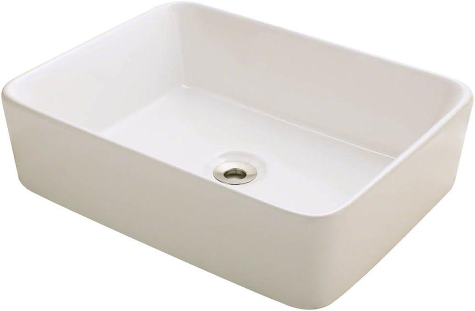 V140-B Bisque Porcelain Vessel Lavatory Sink