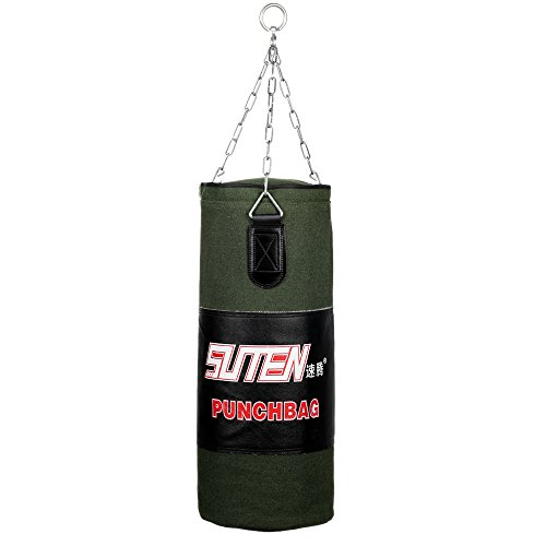 Free Sandbags (Docooler® Boxing Free Combat Training Sandbag Hanging Empty Kick Punch Bag with Chain Size 80cm)