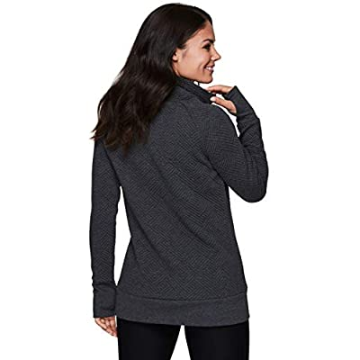 RBX Active Women's Ultra Soft Quilted Cowl Neck Pullover Sweatshirt at Women's Clothing store