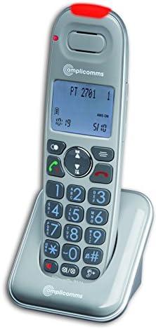 Amplicomms PowerTel 2701 cordless seniors phone LCDisplay grey