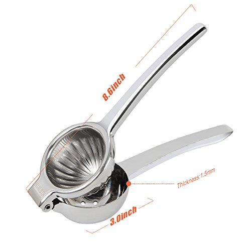 KISWIN Lemon Squeezer, Stainless Steel Manual Lime Squeezer / Citrus Press / Orange Juicer- Easy Extract, Sturdy and Dishwasher Safe by KISWIN (Image #4)