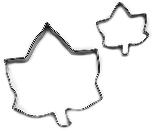 Cybrtrayd 000RM1290-1690 R&M Parent/Child Cookie Cutter Set, 4-Inch and 1 to 1.5-Inch, Ivy Leaf, Tin