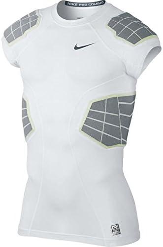 ナイキメンズHyperstrong 4-pad保護用シャツ ホワイト/グレー Small