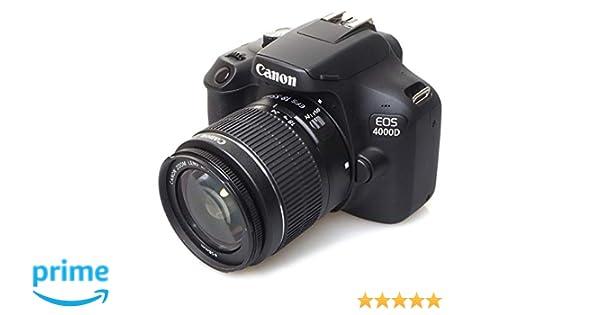 Canon EOS 4000d 18 - 55 See cámara, Negro: Amazon.es: Electrónica