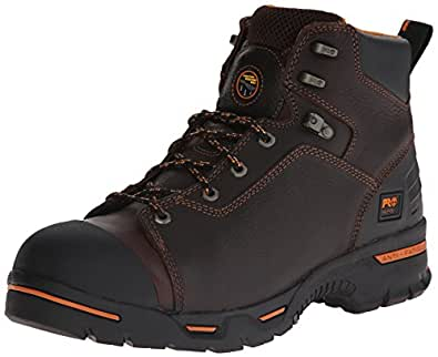 """Timberland PRO Men's 52562 Endurance 6"""" Puncture Resistant Work Boot,Brown,7 W"""