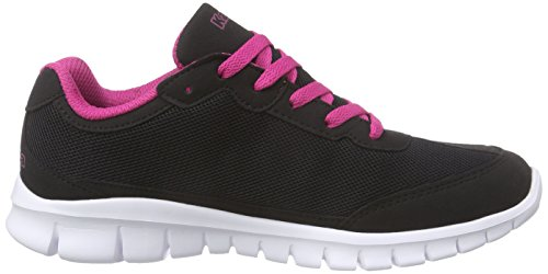 l'pink Zapatillas synthetic Mesh Rocket Kappa Negro Unisex Mujer Black Footwear aw6BzxSqnT
