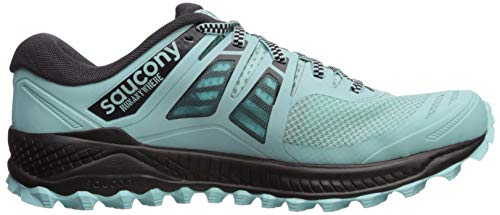 Saucony Women's Peregrine ISO Trail Running Shoe, Aqua/Grey, 5 M US by Saucony (Image #7)