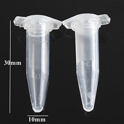 new 75pcs 0.5mL Disposable Graduated Clear Plastic Eppendorf Centrifuge Tube Vial