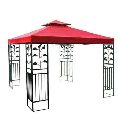 8x8 Ft Garden Canopy Gazebo Replacement Top Red