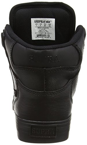 Supra Unisex-Erwachsene Vaider High-Top Schwarz (BLACK / BLACK - RED RCS)