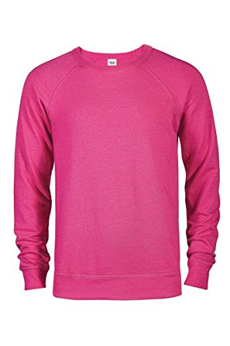 Casual Garb Men's Crew Neck Sweatshirts French Terry Crewneck Sweatshirt for Men Heliconia Heather X-Large