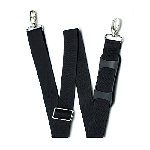 Black Nylon Strap (Hibate Replacement Shoulder Strap Adjustable Luggage Bag - Black, Non-Slip Pad)