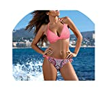 Love & Freedome Sexy Bikini Women Swimsuit Push Up Swimwear 2018 Criss Bandage Halter Top Beach Swim Wear S~XXL,03,M