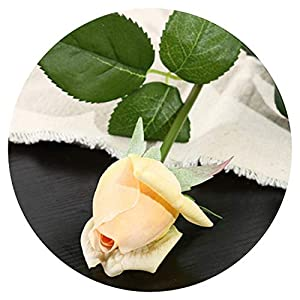 10Pcs 11Pcs/Lot Latex Rose Artificial Flowers Real Touch Rose Flowers for Year Home Wedding Decoration Party Birthday Gift,C Champange 3,10Pcs 56