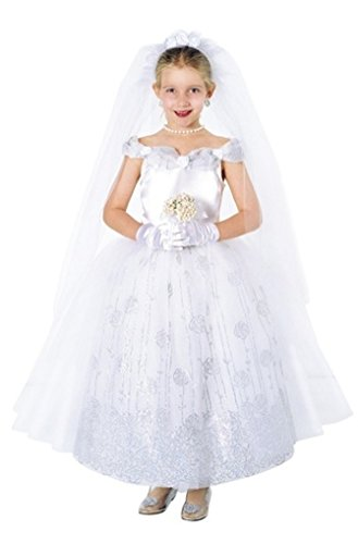Child X-Small 2-3 - Bride Costume (Dress only. Does not include Veil, Flowers or Gloves) by Puppet (Girls Wedding Dress Costume)