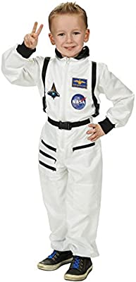 Astronauta Spaceman traje niños traje blanco para Carnaval: Amazon ...
