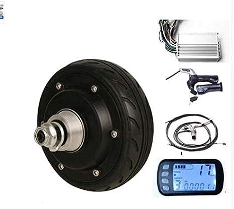 GZFTM 5 Pulgadas 250W 24V Motor de Rueda eléctrico Motor de Scooter eléctrico Kit de Motor Bicicleta eléctrica con LCD: Amazon.es: Deportes y aire libre