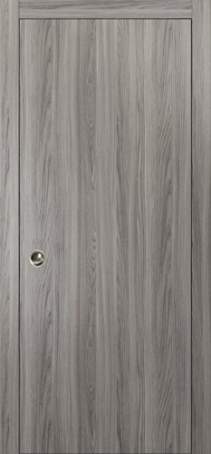 Bell Knob Set Privacy Lock (Planum 0010 Interior Pocket Door Ginger Ash No Pre Drilled with sliding system, pulls)