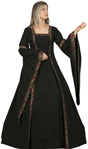 Calvina Costumes Lisa Medieval High End Women Dress Made in Turkey, (Medieval Times Peasant Costume)