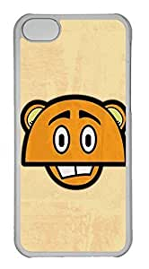 Personalized Custom Anime Tiger for iPhone 5C PC Transparent Case
