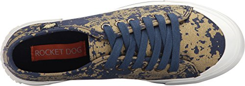 Women's Dark Psyche Sneaker Orchard Cotton Blue Dog Rocket Jumpin Fashion Gold BSAw564pq