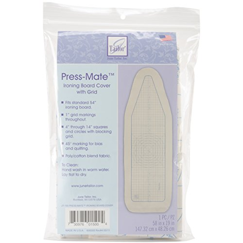 June Tailor Press-Mate Ironing Board Cover, 59-by-20-Inch