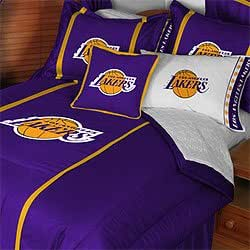 Nba los angeles lakers bedding set comforter sheets twin bed home kitchen - Housse de couette los angeles ...