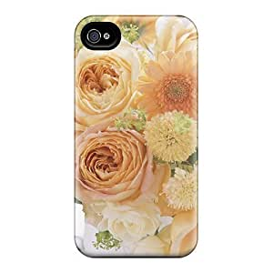 Hot Style YayeSyd3231WavZq Protective Case Cover For Iphone4/4s(bunch Of Yellow Flowers)