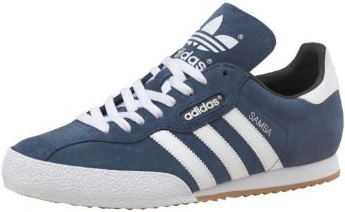 adidas Mens Originals Samba Super Suede Trainers Navy/White ...