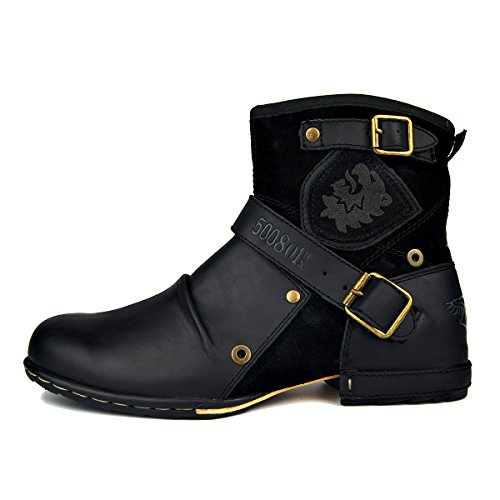 Mens Motorcycle Boots Fashion - 3