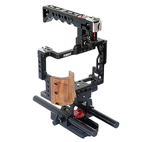 FIMCITY Aluminio Construido cámara de vídeo Profesional Cage para ...