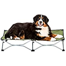 """Carlson Pet Products 8045 Elevated Folding Pet Bed 46"""" Long, Includes Travel Case, Green"""