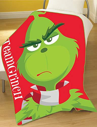 Dreamtex The Grinch Movie Team Grinch Fleece Blanket -