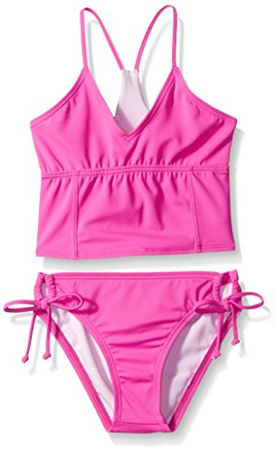 Reef Big Girls' Cove Solids Bralette and Tunnel Pant Swimsuit Set 8, Pink, 8