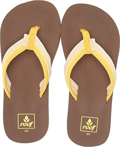 Reef Girls' Kids AHI Beach Sandal, sunshine, 4-5 Big ()