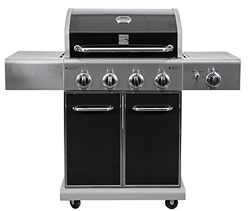 Kenmore 4 Outdoor Patio Gas BBQ Propane Grill with Side Burner in