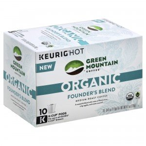 Green Mountain Coffee Organic Founder's Blend K-Cups 10 ct (Pack of 2)