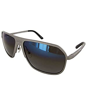 Vuarnet Extreme Unisex VE 7012 Square Polarized Aviator Sunglasses, Matte Grey