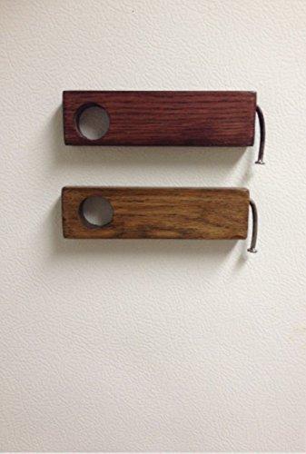 Rustic bent nail bottle opener, wooden beer bottle opener, g