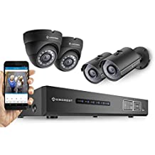 Amcrest ProHD 720P 4CH Video Security System - Four 1.0-Megapixel (1280TVL) Outdoor IP67 Bullet & Dome Cameras, 1TB HDD, Night Vision, Remote Smartphone Access, Black Mid (AMDV7204M-2B2D-B)