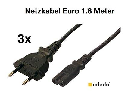 meilleur prix pour conception populaire où acheter odedo® Lot de 3 Câble d'alimentation Euro prise - > femelle ...