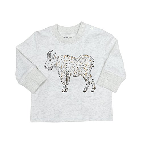 Billy Collection Childs (Robeez Baby Boys Big Memories Long Sleeve Top, Heather Grey Billy Goat, 3 Months)