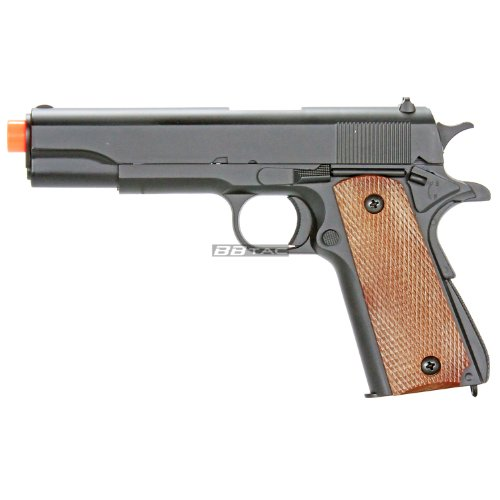 (BBTac M21 Airsoft 260 FPS Metal Spring Pistol with Working Hammer and Saftey Grip)