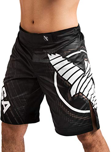 Hayabusa Chikara 4 Fight Shorts for Men Black Medium MMA Combat Sports Kickboxing Jiu Jitsu BJJ
