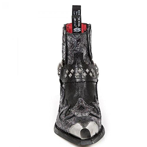 Nieuwe Rock Handgemaakte M 7950p C3 Zwarte Mannen Sokje