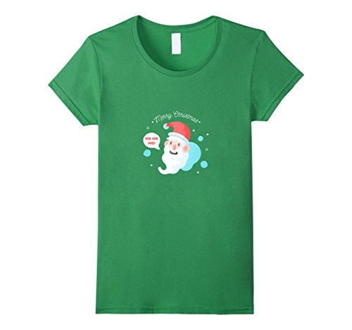 Bad Santa Merry Christmas - Womens Bad Santa Merry Christmas Happy New Year 2018 T-shirt Medium Grass