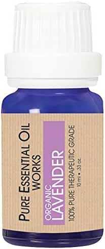 Pure Essential Oil Works Organic Essential Oil, Lavender, 0.33 Ounce