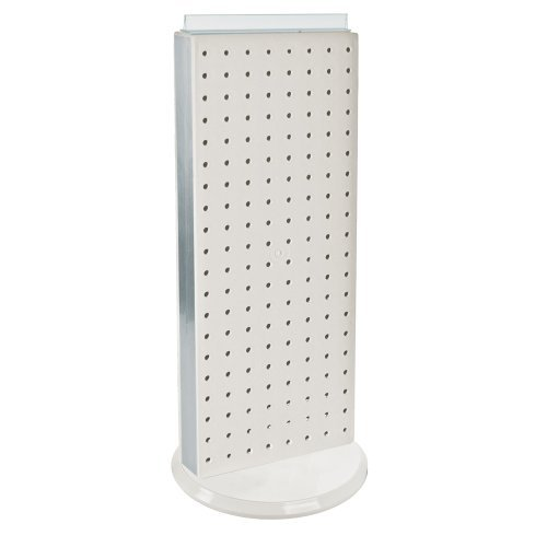 Pegboard Displays (Azar 700509-WHT Pegboard Two-Sided Non-Revolving Counter Display, White Solid Color)