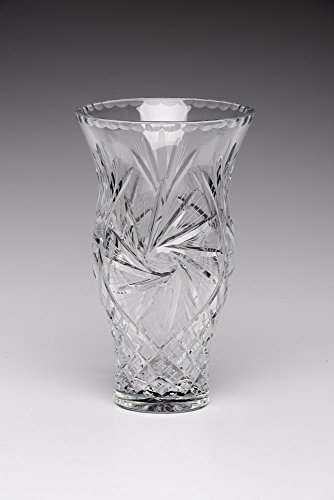 24% Lead Crystal Clear Vase Hand Made in Poland H 10