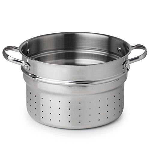 Revere Pasta insert Open Stock for 6.5 quart Stock Pots and Aluminum, One Size, Stainless Steel ()